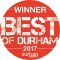 Winner Best of Durham 2017 Award