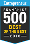 Entrepreneur Franchise 500 Best of the Best 2018