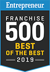 Entrepreneur Franchise 500 Best of the Best 2019