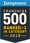 Entrepreneur Franchise 500 Ranked #1 In Category 2019