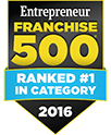 Entrepreneur Franchise 500 Ranked #1 In Category 2016