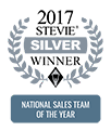 2017 Stevie Silver Winner - National Sales Team of the Year