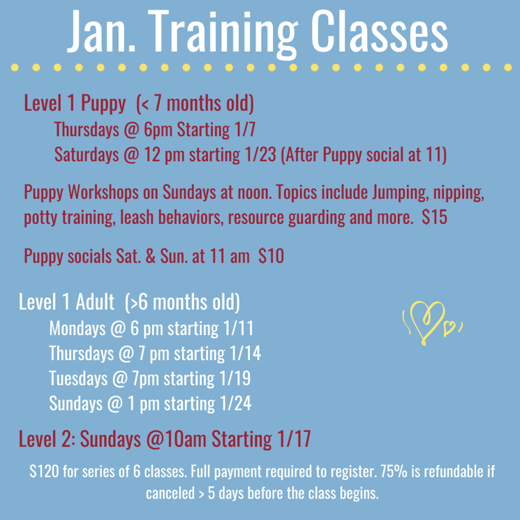 Jan Training Classes