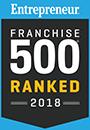 Entreprenuer Franchise 500 Ranked 2018 Logo